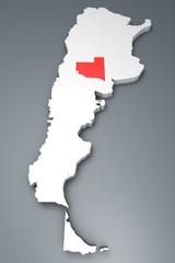 La Pampa provincia Argentina mappa 3d
