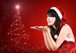 pretty women in santa outfit