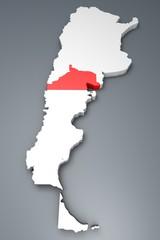 Rio Negro provincia Argentina mappa 3d