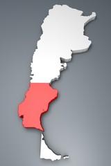 Santa Cruz provincia Argentina mappa 3d