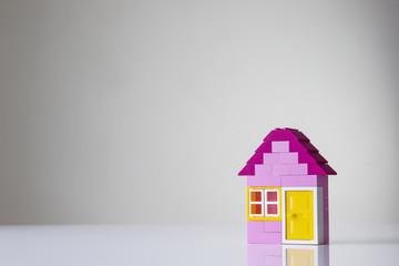 house made of kids building bricks
