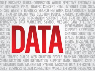Word Data, related keywords vector concept, presentation