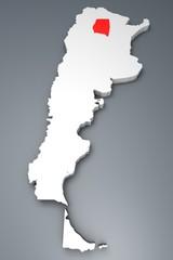 Santiago del Estero provincia Argentina mappa 3d