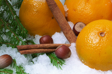 tangerines snow hazelnut cinnamon