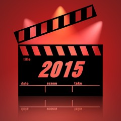 Clapperboard cinema 2015 fondo luces.