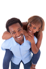 African American young couple playing - Black people