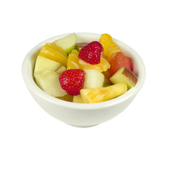 Fruit salad in a bowl.