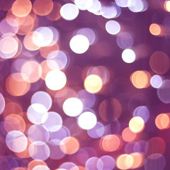 warm bokeh lights, squuare format abstract background