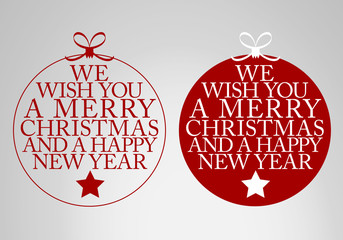 wishes for christmas - greeting card