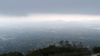 Los Angeles Mountain View Dusk Fog Time Lapse