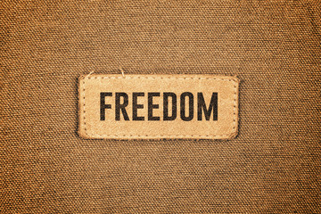 Freedom Leather Label Tag