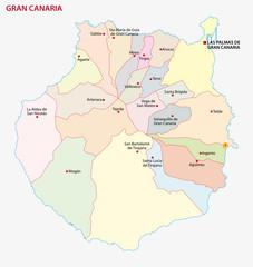 gran canaria administrative map
