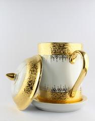 Antique porcelain coffee cup.