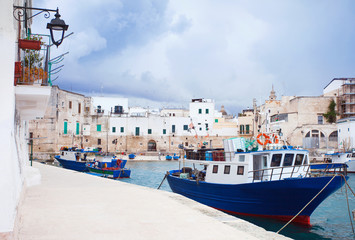 Boats at harbor, Monopoli, Southern Italy