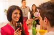 Obrazy na płótnie, fototapety, zdjęcia, fotoobrazy drukowane : Flirting On House Party