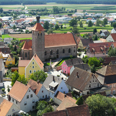 View of German village