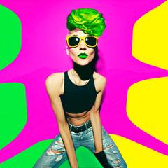 disco punk fashion style club party girl