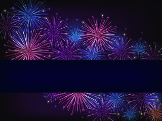 blue purple fireworks