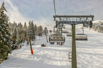 Chairlift at ski resort
