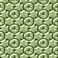 Green texture with metallic relief patterns