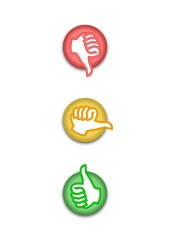 Abstimmung Ampel rot-gelb-grün
