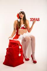 Weihnachtsfrau hat Weihnachtsgeschenke