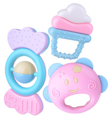 Colorful baby rattle set