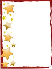 Weihnachten Rahmen rot Sterne