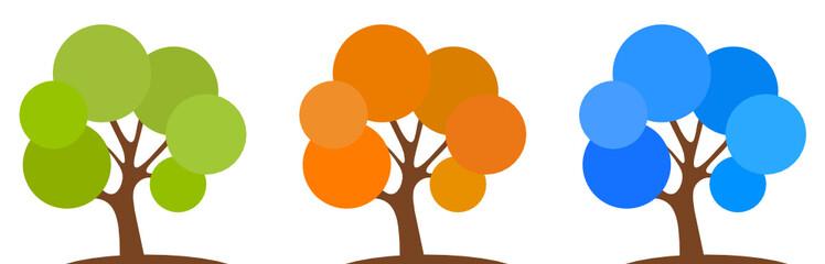 Bunte Laubbäume