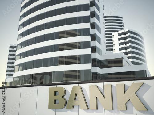 canvas print picture Financial center