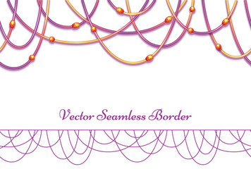 Vector abstract background with colored beads. Horisontal