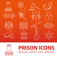 prison outline icons