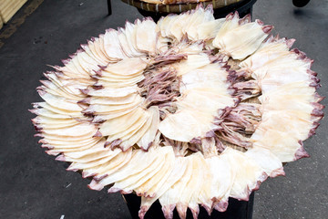 Dried Squid in market