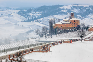 Volta Castle in winter.