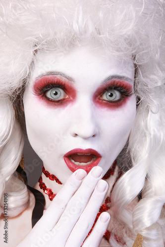 canvas print picture White Woman