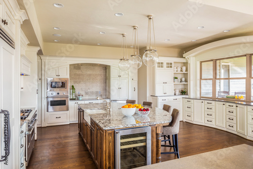 Large Furnished Kitchen in New Home - 73254934