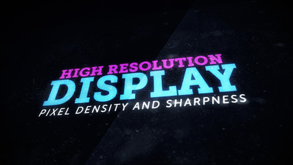 Sharp high resolution display device