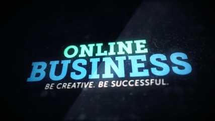 Creative online business concept background