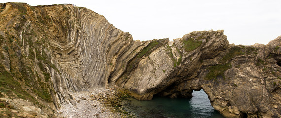 Folded strata on the Jurassic Coastline, Dorset, UK