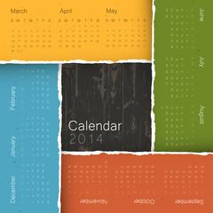 Abstract calendar by seasons, 2014. Vector, EPS10