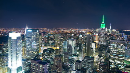 night light manhattan 4k time lapse from ny top of the rock