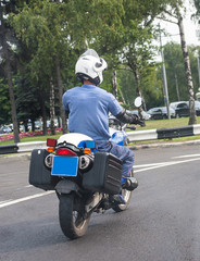 police officer on the motorcycle