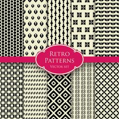 Retro patterns set 2