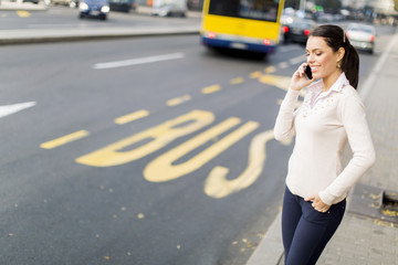 Young woman on the street
