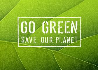Go Green Poster, Vector