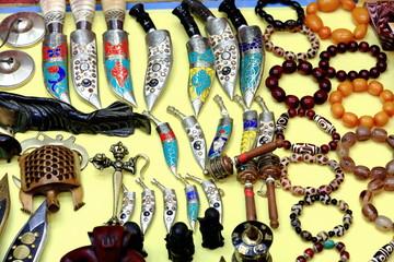Various nepalese handicrafts. Pokhara-NEPAL. 0679