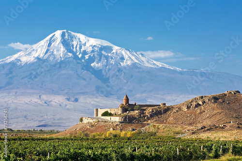 Landscape with an ancient monastery - 73256745