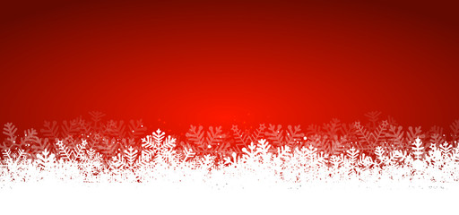 Red Panorama Christmas Background