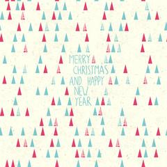 Merry Christmas Card Hand Drawn.