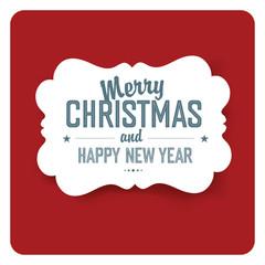 Merry Christmas Card Simple  Design. Vector